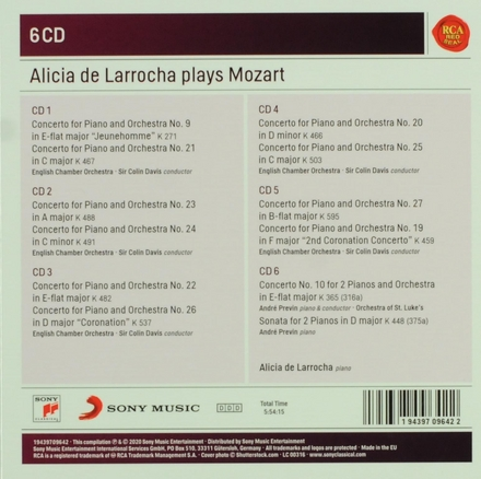 Alicia de Larrocha plays Mozart