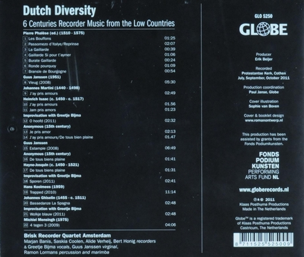 Dutch diversity : 6 centuries recorder music from the Low Countries
