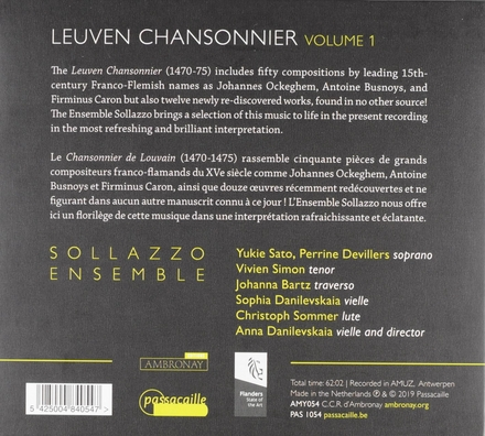 Leuven chansonnier. Vol. 1