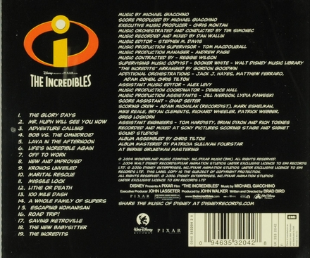 The incredibles : an original soundtrack