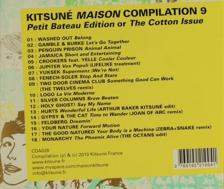 Kitsuné maison compilation : Petit bateau edition or The cotton issue. vol.9