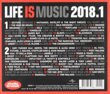 Life is music 2018 : meer onsterfelijke Studio Brussel songs. 1