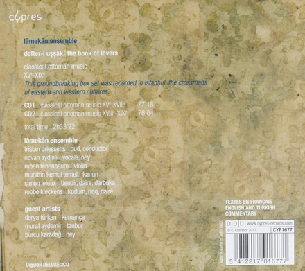 The book of lovers : classical ottoman music XV-XIX