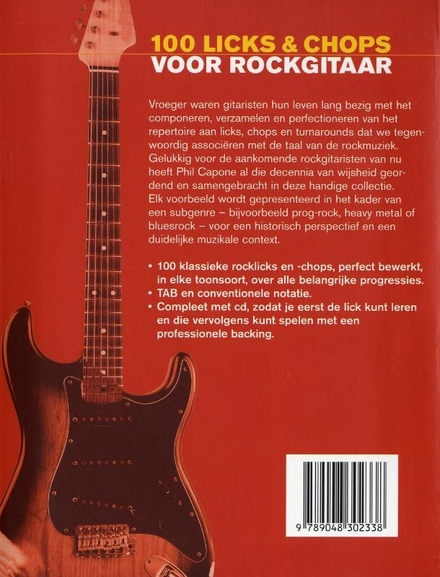 100 licks & chops voor rockgitaar
