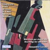Riscritture per violino solo