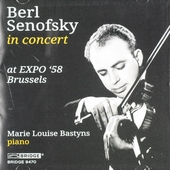 Berl Senofsky in concert at EXPO '58 Brussels