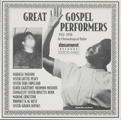 Great gospel performers : Complete recording sessions in chronological order 1937-1950