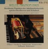Welte-Mignon : Schubert und Beethoven