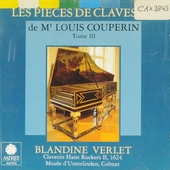 Les pièces de clavessin de Mr Louis Couperin. Tome III