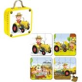 Puzzelkoffer De tractor van Tuur