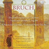 Double concerto for clarinet, viola and orchestra op.88 . 8 pieces for clarinet, viola and piano Op.83
