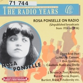 Rosa Ponselle on radio : Unpublished broadcasts from 1934 to 1936