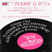 The piano G & Ts : Recordings from the Gramophone and typewriter era 1900-1907. vol.1
