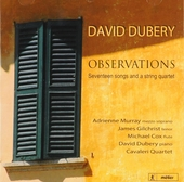 Observations : Seventeen songs and a string quartet