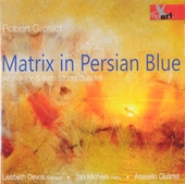 Matrix in Persian blue : Works for & with string quartet