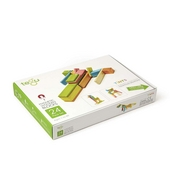 Magnetic wooden blocks : 24 pieces