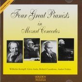 Four great pianists in Mozart concertos
