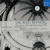 Sacred Handel : Music for the carmelite vespers - Rome 1700