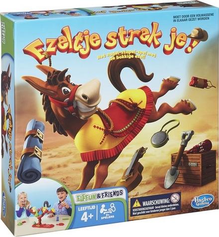 Ezeltje strek je! : de ezel van het bekende zadel-stapelspel is nu nóg humeuriger!