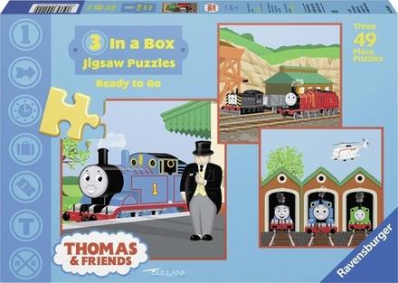 Thomas & friends : 3 in a box jigsaw puzzles