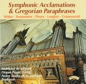 Symphonic acclamations & gregorian paraphrases