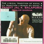 The lyrical tradition of khyal. vol.4