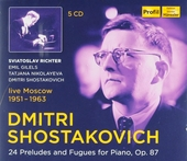 24 preludes and fugues for piano, op.87 : Live Moscow 1951-1963