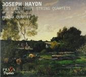 The last three string quartets