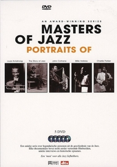 Portraits of Louis Armstrong, the story of jazz, John Coltrane, Billie Holiday, Charlie Parker