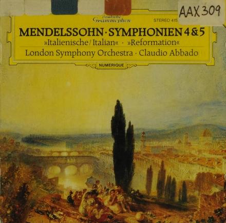 """Symphonie No.4 op.90 """"Italienische"""""""