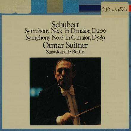 Symphony no.3 in D major, D200