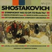 Symphony no.13 in b flat minor 'babi yar' op.113 (1962)