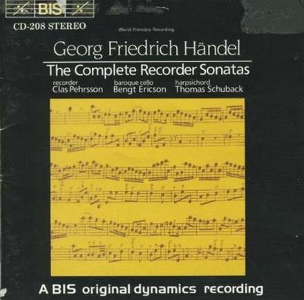 The complete recorder sonatas