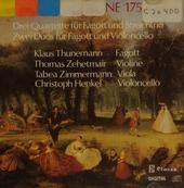 Drei Quartette für Fagott und Streichtrio