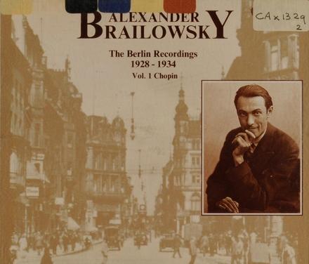 The Berlin recordings 1928-1934 Vol.1. vol.1