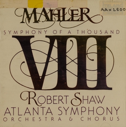 """Symphony no.8 """"Symphony of a thousand"""""""