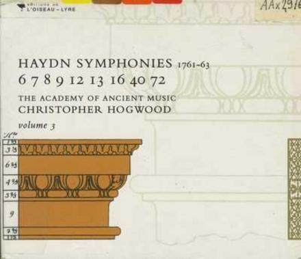 Haydn symphonies. Vol. 3