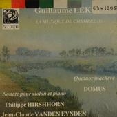 La Musique de chambre ; Vol.1