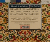 The art of ornamentation in the Renaissance & Baroque