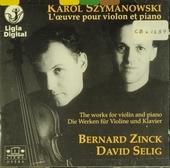 L'oeuvre pour violon et piano