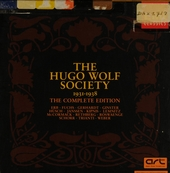 The Hugo Wolf Society 1931-1938 : the complete edition