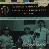 World library of folk and primitive music. Vol.1, England