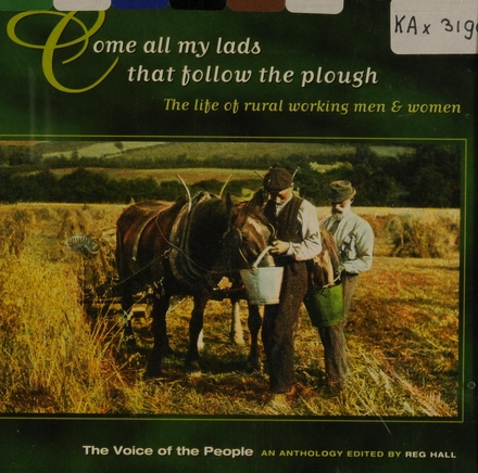 Come all my lads that follow the plough