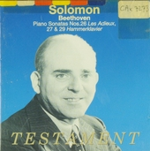 Solomon plays Beethoven piano sonatas