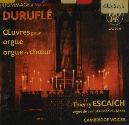 Oeuvres pour orgue et choeur