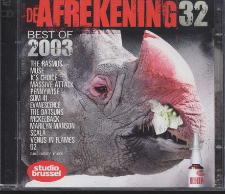 De afrekening van Studio Brussel. 32, Best of 2003