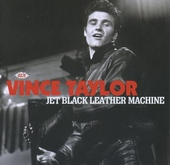 Jet black leather machine