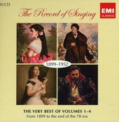 The record of singing : the very best of volumes 1-4 : from 1899 to the end of the 78 era