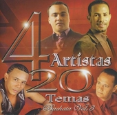 4 artistas : 20 temas - bachata. vol.3