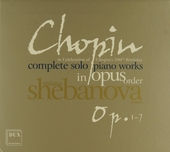 Complete solo piano works in opus order : Op.1-7